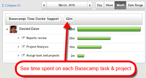 basecamp time tracking