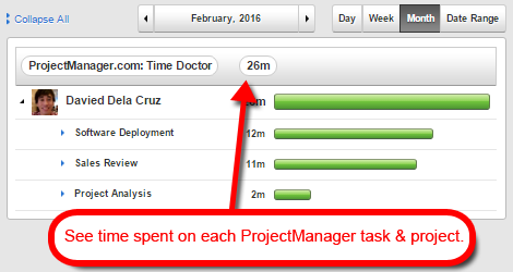 projectmanager.com time tracking