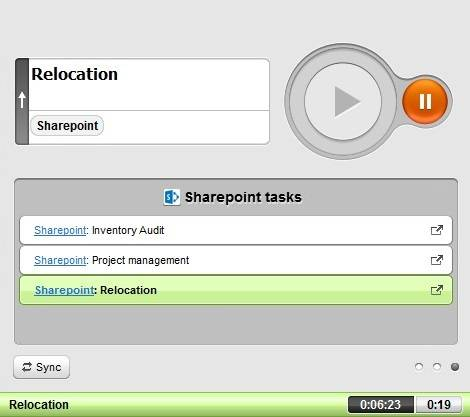 time tracking sharepoint tasks
