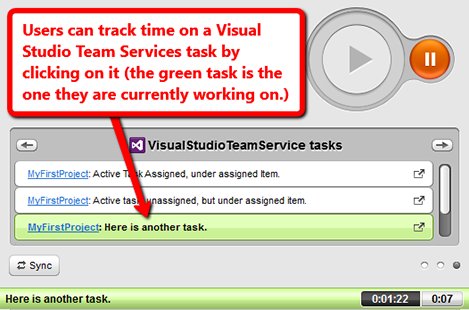 time tracking visual studio team services tasks