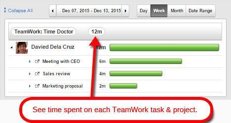 Teamwork Projects time tracking