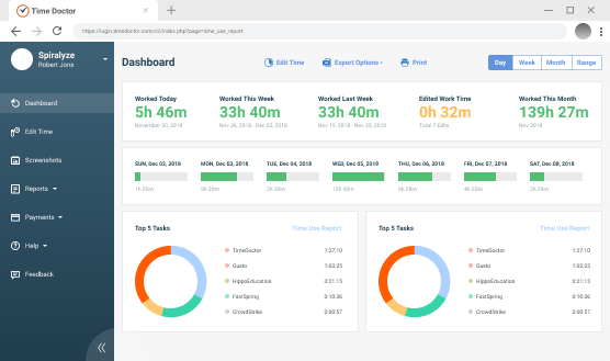 Smart Employee Time Tracking Software with Screenshots