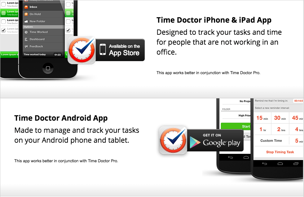 Time Doctor works on all platforms