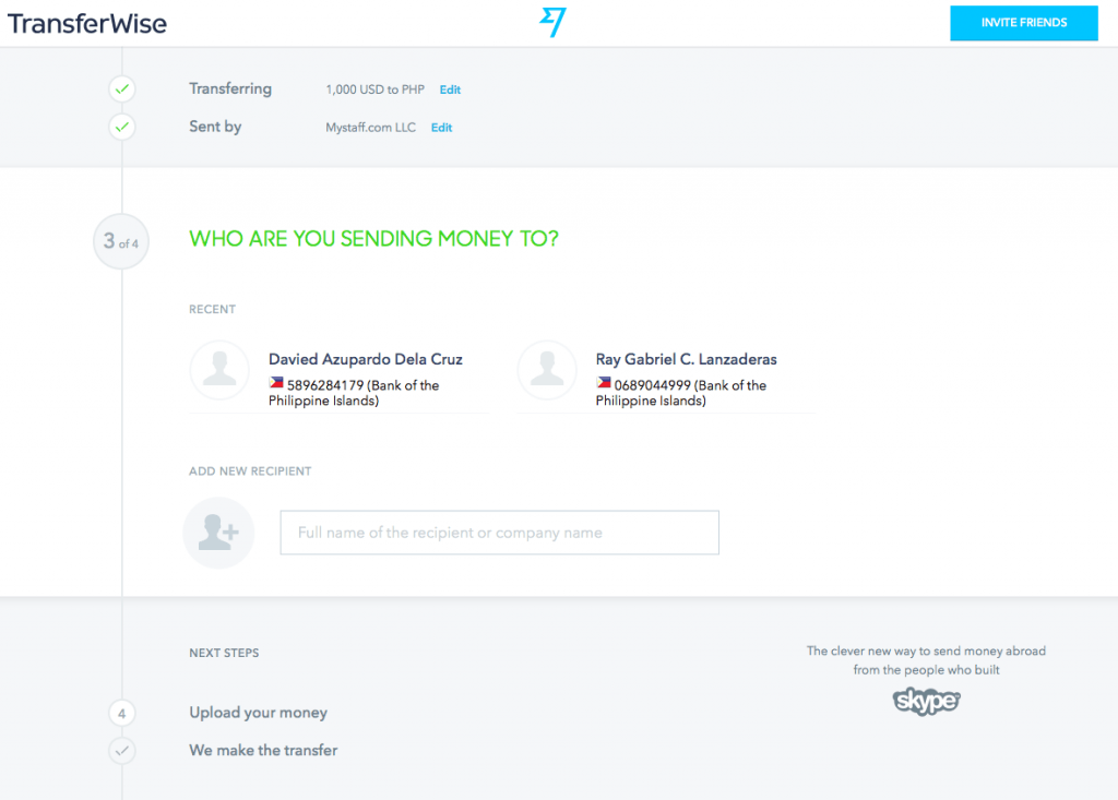 Transfer Money Using Transferwise Add Recipient