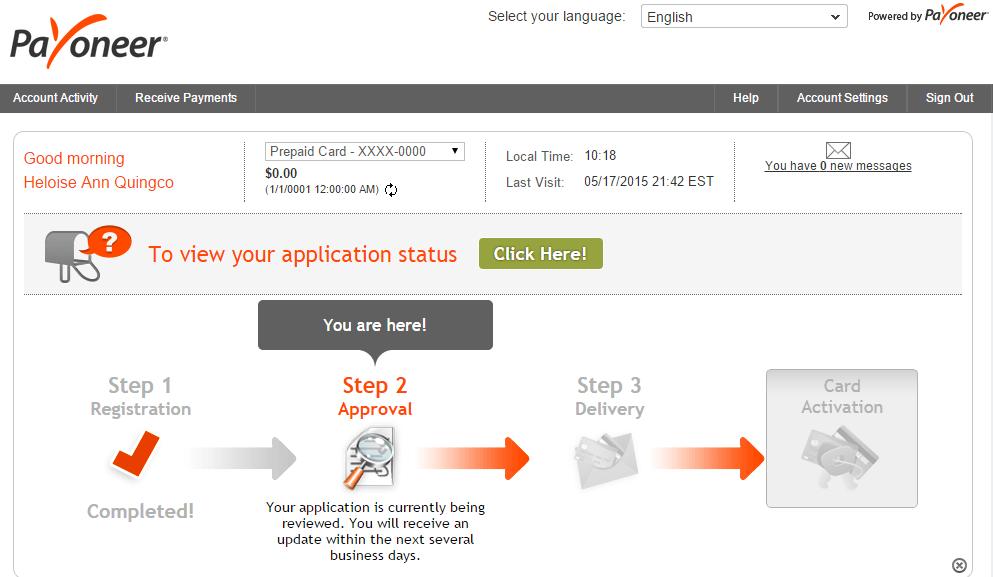 How to register on Payoneer