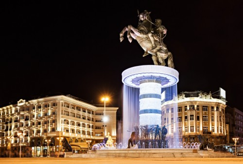 Time Doctor - Macedonia Square in Skopje