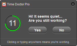 Time Doctor popup