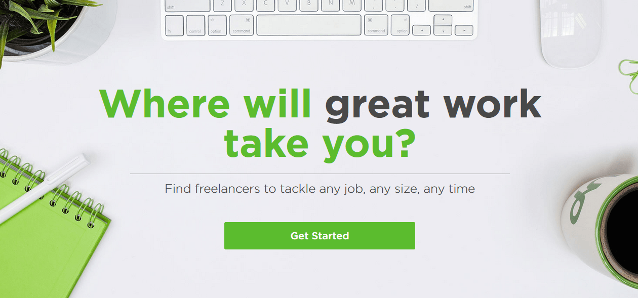 Upwork to find freelance writers