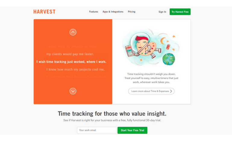 harvest time tracking with freshdesk