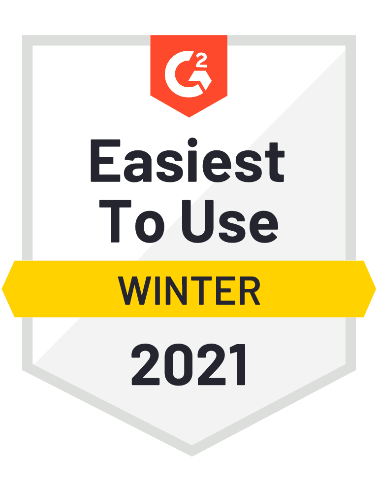 G2 Easiest to Use Winter 2021