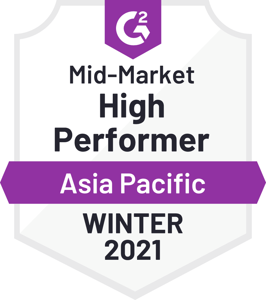 G2 High Performer Mid-Market Asia Pacific