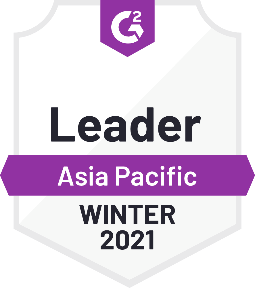 G2 Leader Asia Pacific Winter 2021 APAC Time Tracking