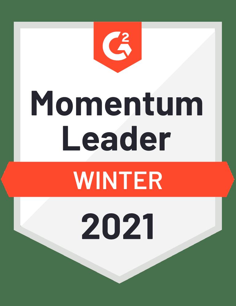 G2 Momentum Leader Winter 2021