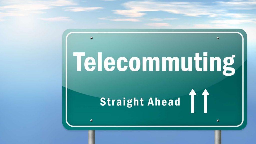 telecommuting signs