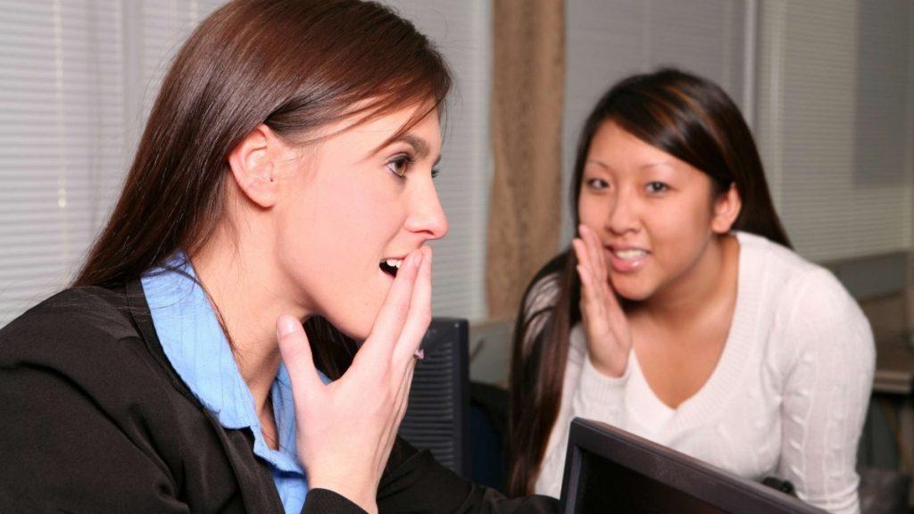 Gossiping employee