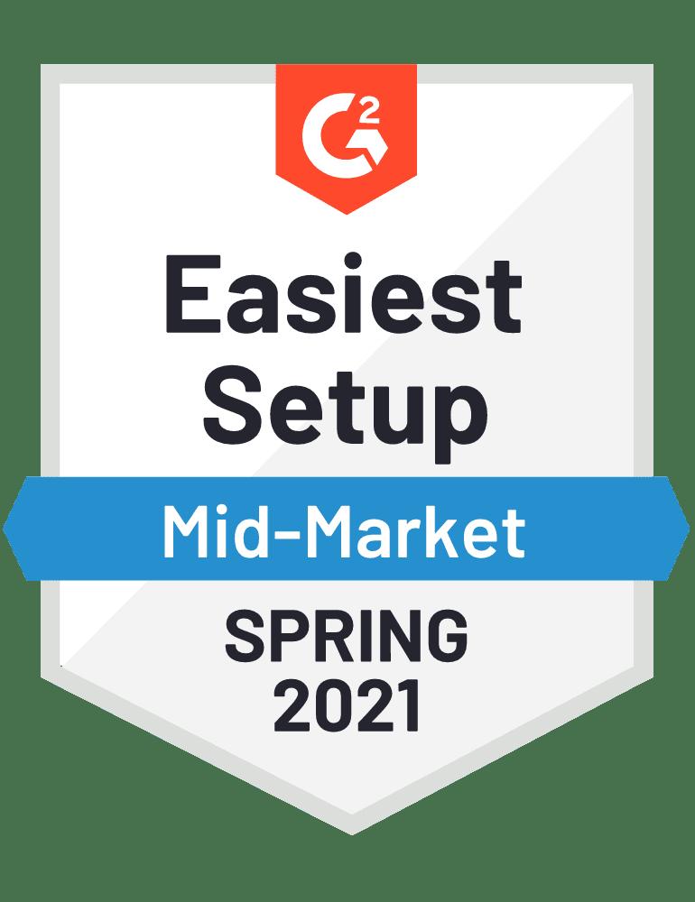 g2 easiest setup mid-market