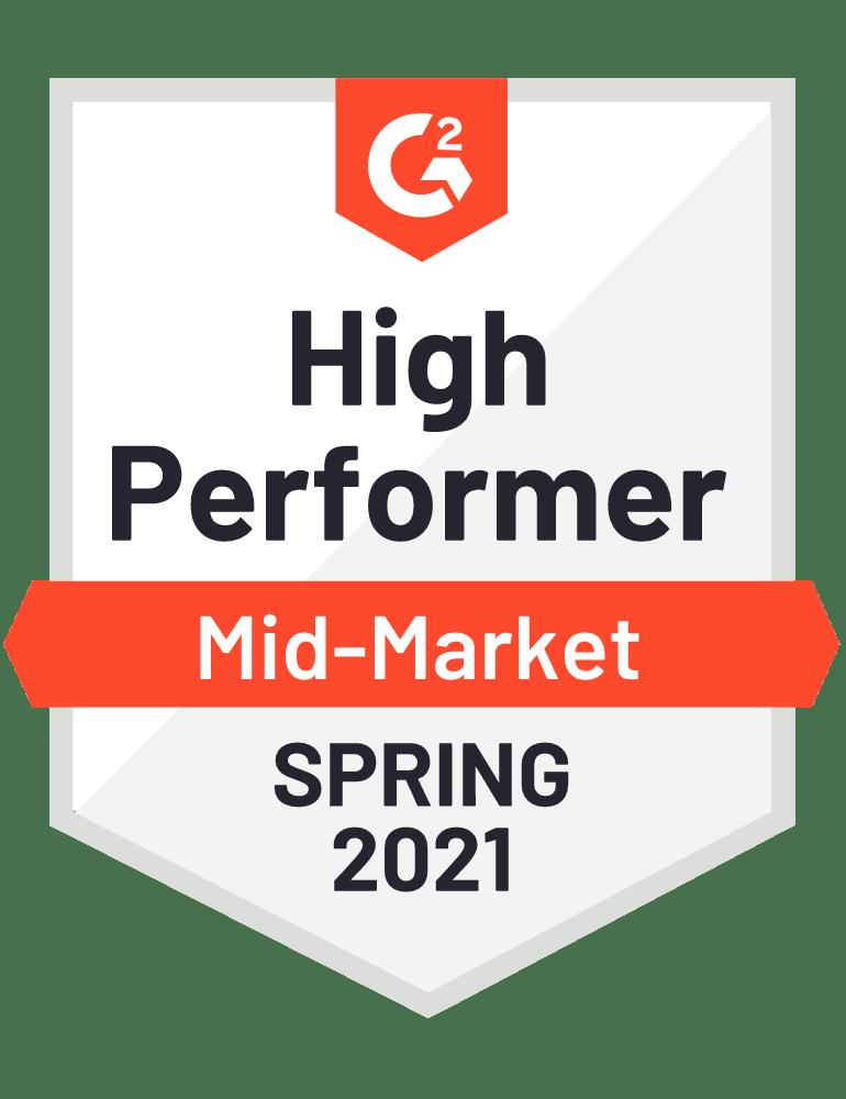 mid-market high performer g2