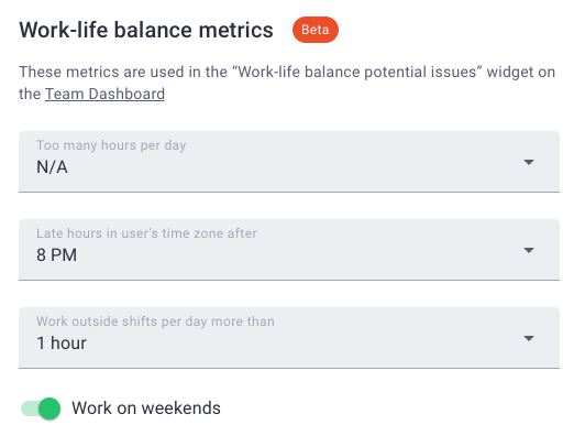work-life balance metrics